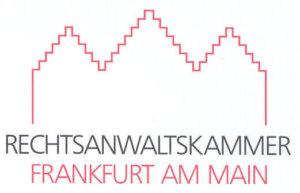 Logo der Rechtsanwaltskammer Frankfurt am Main mit der Silhouette des Römer Platzes in Frankfurt